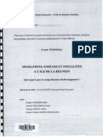 Migrations, Emplois Et Inégalités à l'Île de La Réunion, Quel Apport Pour La Compréhension Du Développement, Franck Temporal, 2008