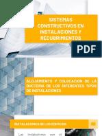 Sistemas Constructivos en Instalaciones y Recubrimientos
