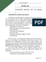 Tema 9 La Educación Sexual en La Educación Infantil