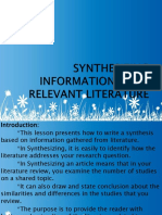 SYNTHESIZING-INFORMATION-FROM-RELEVANT-LITERATURE-Arcan-ppt.pptx