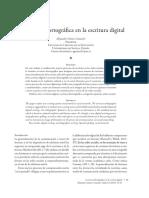 La Norma Disortografica en La Escritura Digital