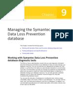 Managing Data Loss Prevention Database