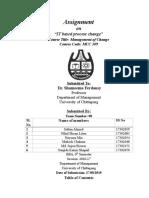 IT Based Process Change