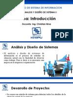 S1-S2 Introduccion Analisis y Diseño de Sistemas Ing. Christian Nina