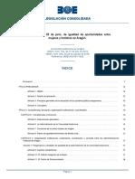 Ley 7-2018 Igualdad Oportunidad Mujeres y Hombres Aragon