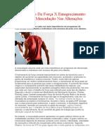 Treinamento de Força X Emagrecimento O Papel Da Musculação Nas Alterações Metabólicas