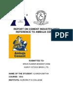 Cement Industry Ambuja
