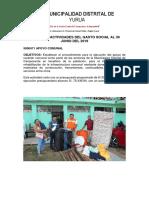 Analisis y Actividades Del Gasto Social Al 31 Junio Yurua