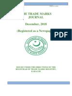 THE TRADE MARKS JOURNAL December, 2018