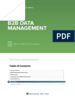 b2b Data Management Best Practices Guide