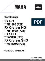 2012 Yamaha Waverunner Fx Cruiser Ho Sho Service Manual Wave Runner