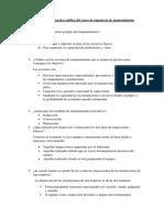 Desarrollo de La Practica Califica Del Curso de Ingeniería de Mantenimiento