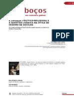 CRACCO JUNIOR, José Walter - Resenha - FELDMAN, Sergio Alberto. as Obras de Isidoro de Sevilha e a Questão Judaica.