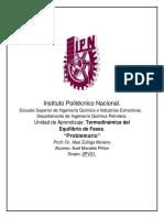 Problemario_Termodinámica Del Equilibrio de Fases