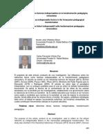 Referentes Éticos Como Factores Indispensables en La Transformación Pedagógica Venezolana