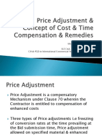 Presentation on Price Adjustment & Concept of Cost & Time Compensation in FIDIC Red Book 1987