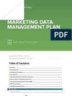 Marketing Data Management Plan Best Practices Guide