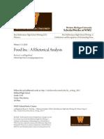 Food Inc. - A Rhetorical Analysis