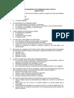 Evaluación Diagnóstica de Formación Cívica y Ética II 2o