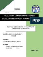 Análisis Descripción y Valoración de Puestos de Trabajo