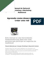 Manual de Network Marketing o Marketing