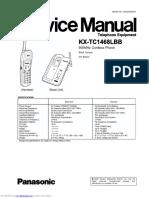 Telefone Panasonic KX-TC1468LBB - Ingles