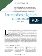 Los Medios Digitales en las Aulas