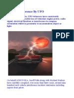 Vehicle Interference by UFO