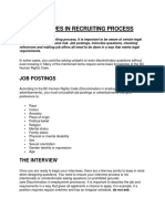 issues in recruiting process.docx