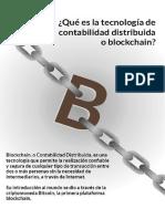 ¿Qué es la tecnología de contabilidad distribuida o blockchain