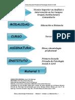 Etica y Deontología Social