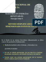 Dimensionado Sistema PV