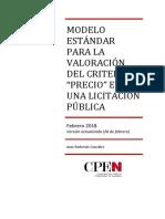 Documentos Modelo Estandar Valoracion Criterio Precio Juan Barberan 8baf3587