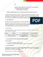 001 Programa Institucional MTC Coord. Do Curso de Extensao