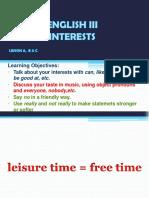 Unit 2 Interests