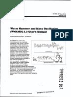 USACE - Water Hammer and Mass Oscillation (WHAMO) Ver. 3.0 - User