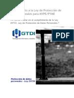 Alineamiento a La Ley de Protección de Datos Personales Para MYPE
