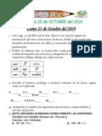 Tarea Del 21 Al 25 de Octubre 2019