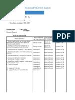Plan de Evaluacion (Educacion Fisica)