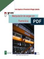 Puente Grua Manipulación de Cargas