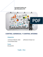 Control Gerencial y Control Interno