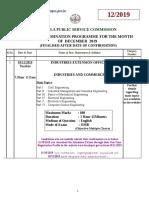 Revised Exm Pgm December