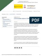 Comunicado sobre el Galeón San José 18 oct 2019