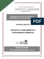 Projetos, Planejamento e Licenciamento Ambiental