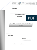 La conduite d'une mission d'audit de certification