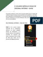 Manual Modulo Hdv - Gihse