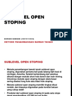 Sublevel Open Stoping