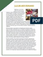 Orgullo de Ser Peruano Trabajo de Comu
