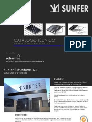 Estructuras Rm Cataleg Sunfer Energy 2019 Tornillo