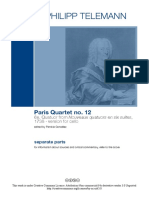 Telemann Paris Quartet No12 -All